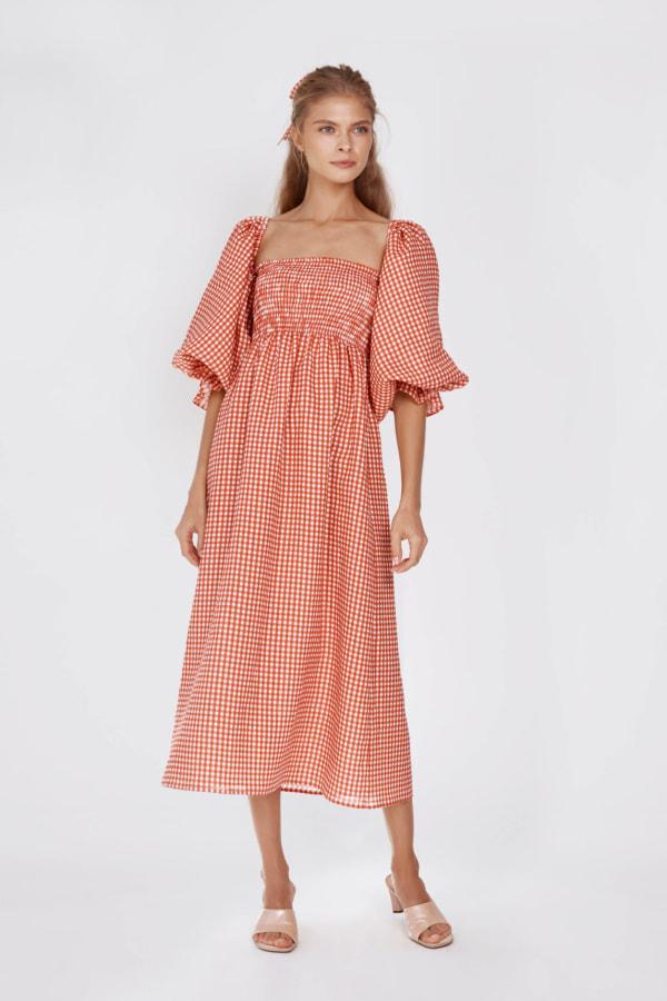 Image 3 of Sleeper atlanta linen dress