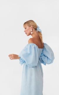 Sleeper Atlanta dress in azure blue 4 Preview Images