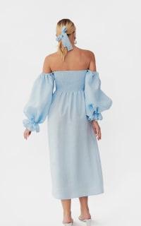 Sleeper Atlanta dress in azure blue 5 Preview Images