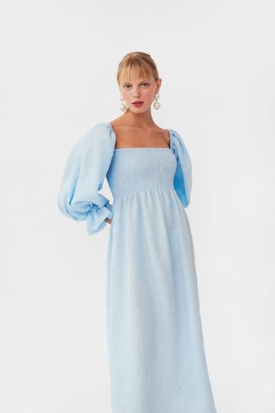 Sleeper Atlanta dress in azure blue 3