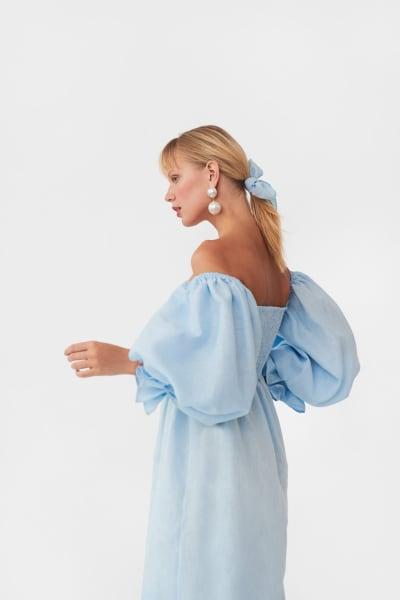 Sleeper Atlanta dress in azure blue 4