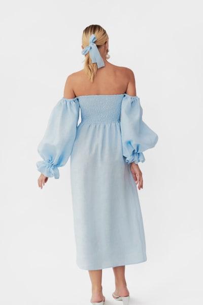 Sleeper Atlanta dress in azure blue 5