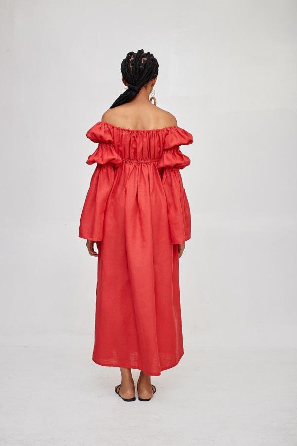 Míe Red Phi Phi linen dress 1 Preview Images
