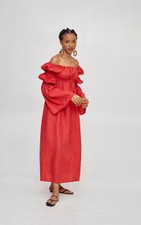 Míe Red Phi Phi linen dress Preview Images