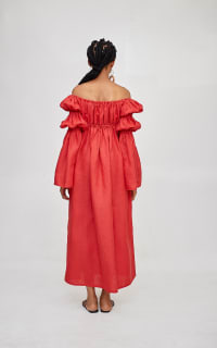 Míe Red Phi Phi linen dress 2 Preview Images