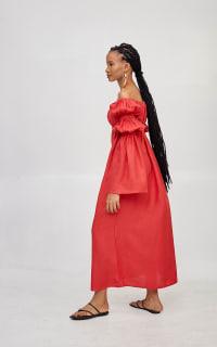 Míe Red Phi Phi linen dress 3 Preview Images