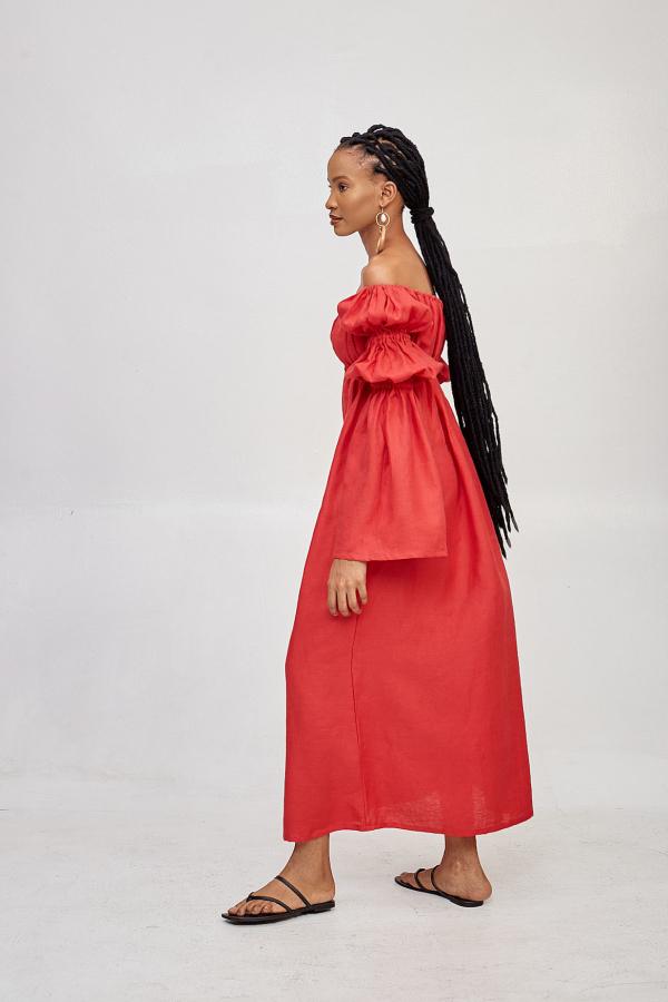 Míe Red Phi Phi linen dress 3