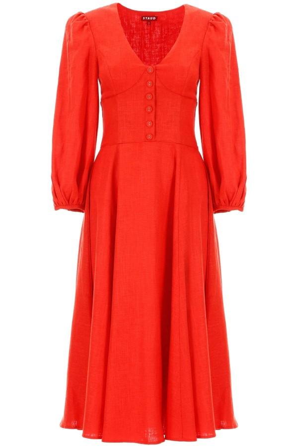 Image 1 of Staud birdie dress