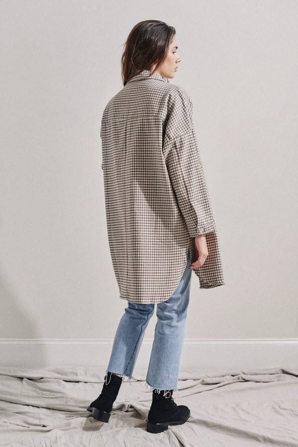 Image 2 of Rita Row check cotton shirt