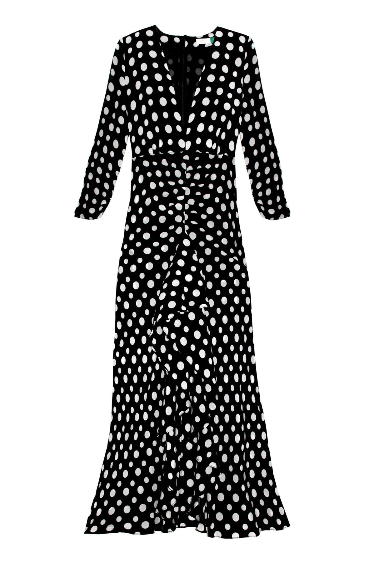 Rixo London Adriana Midi Polkadot dress Preview Images