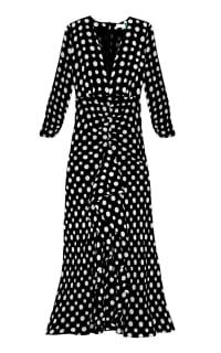 RIXO London Adriana Midi Polkadot dress Preview Images