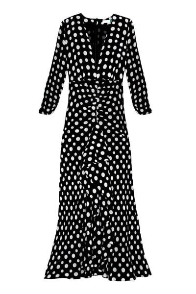 RIXO London Adriana Midi Polkadot dress