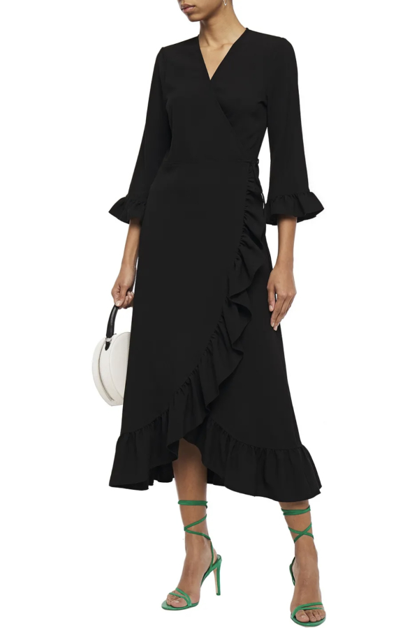 Ganni Clark Ruffle Trim Wrap Dress 2