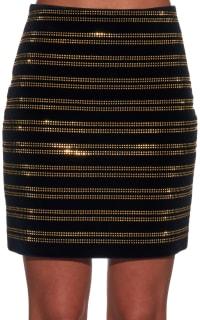 Balmain Black Embellished Velvet Mini Skirt 2 Preview Images