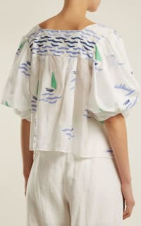 Thierry Colson Rock the Boat silk top 2 Preview Images