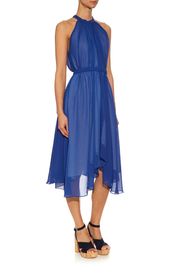 Saloni Iris Halterneck Dress