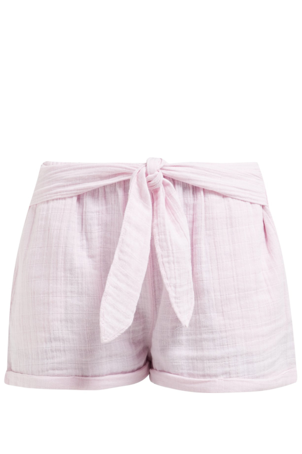 Anaak Maithili tie-waist cotton-muslin shorts 3