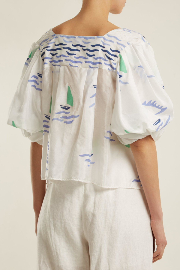 Thierry Colson Rock the Boat silk top 2