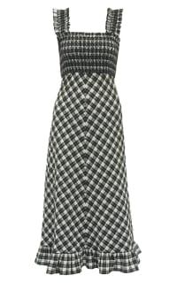 Ganni SEERSUCKER CHECK DRESS Preview Images