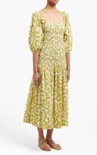 Rhode Resort Harper Cotton Midi-Dress 4 Preview Images