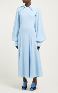 Emilia Wickstead Gaynor Cady Midi Dress 3 Preview Images