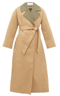 Ganni Double Cotton Trench Coat  Preview Images