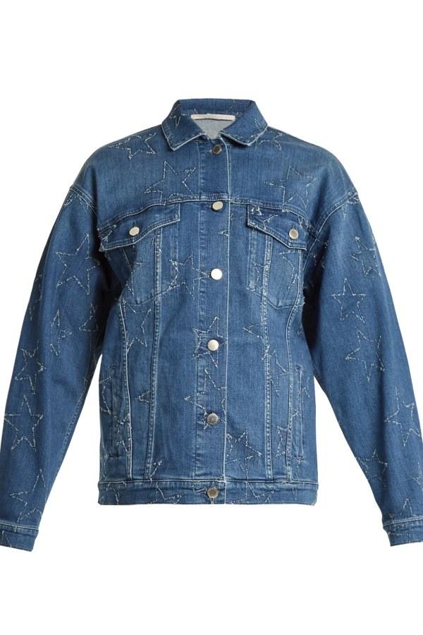Image 1 of Stella Mc Cartney oversized star denim jacket
