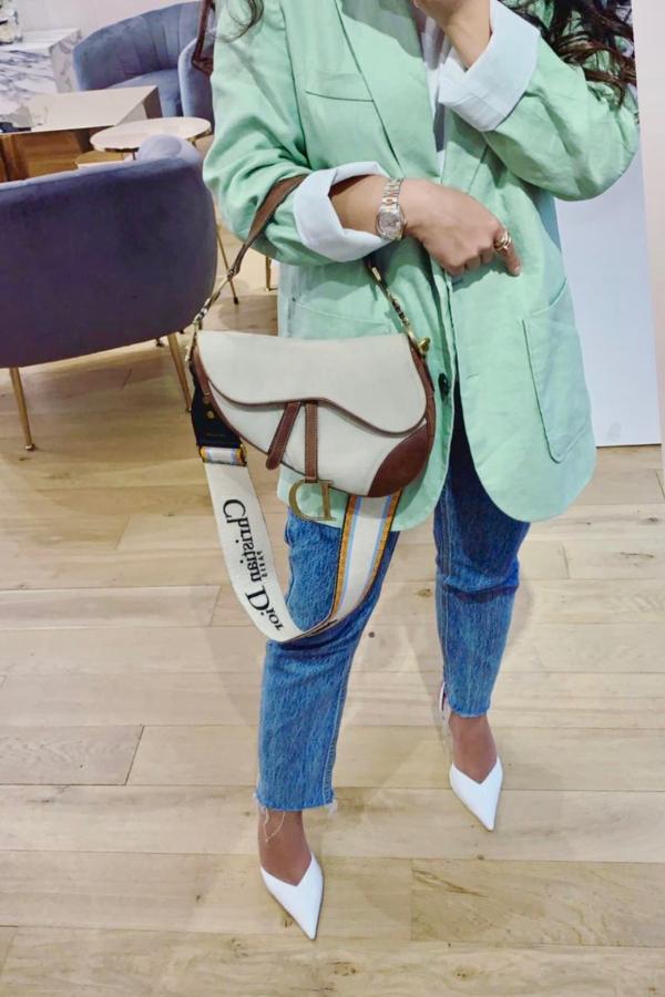 Christian Dior Canvas Saddle Bag  3