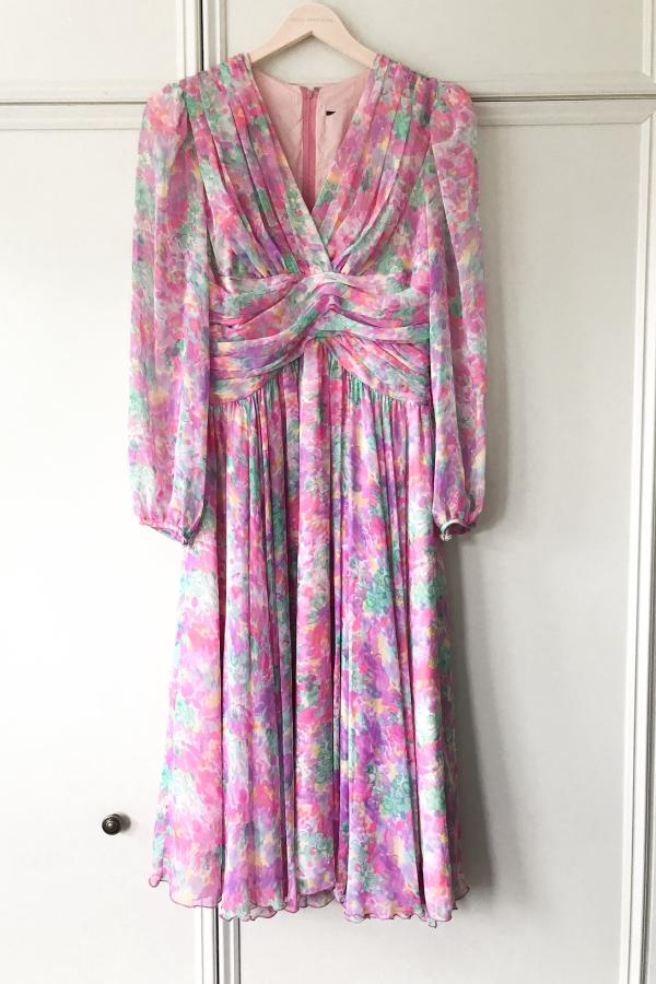 Vintage Floral dress 6