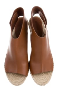 Celine Leather Espadrille Wedges Preview Images