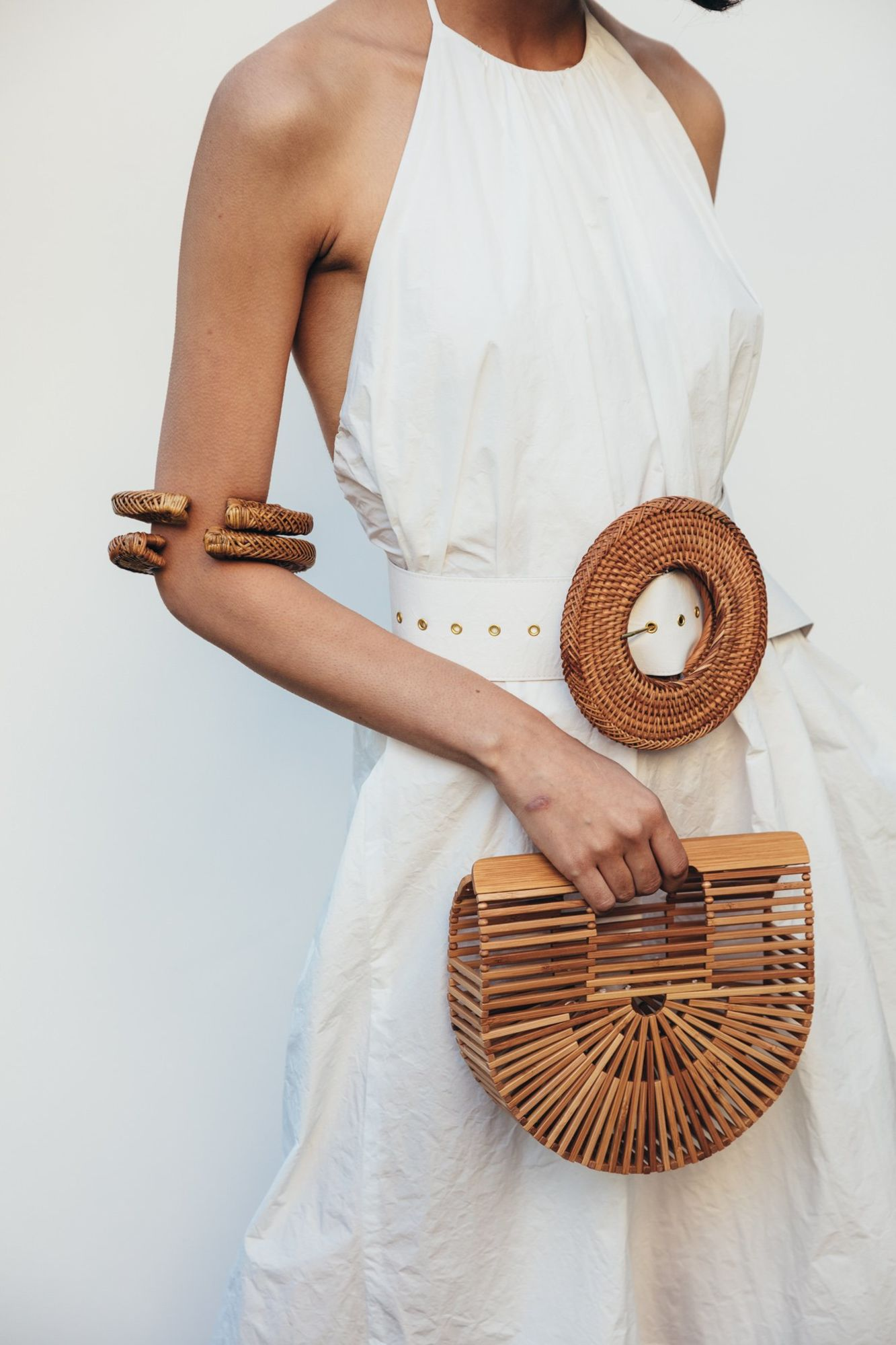 Cult Gaia Small Bamboo Ark Bag 4 Preview Images