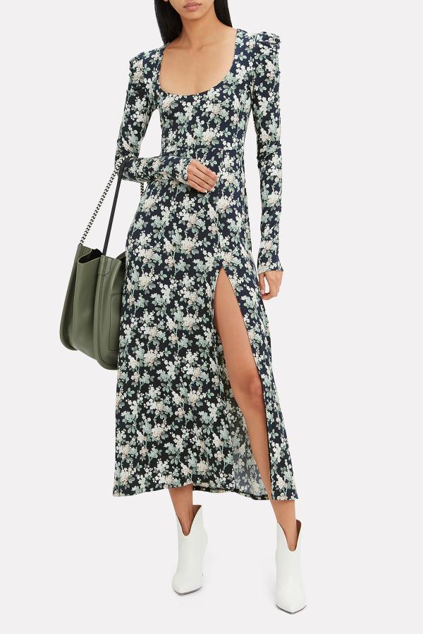 Les Rêveries Floral Midi Dress 2