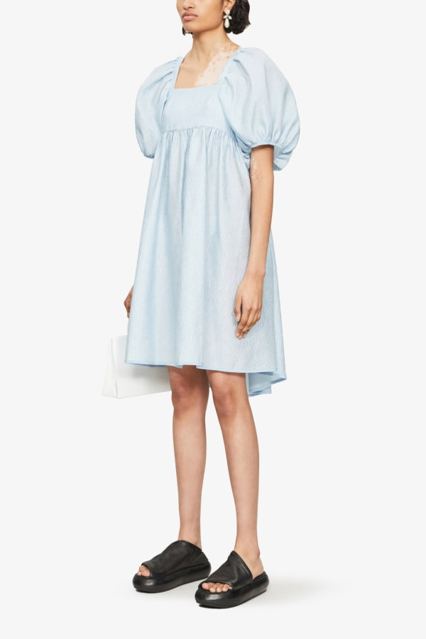 Image 5 of Cecilie Bahnsen puffed-sleeve crepe