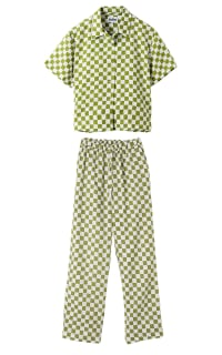 Holiday The Label Checkered Pyjama Olive set Preview Images