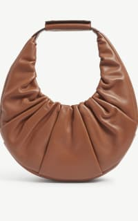Staud Moon ruched leather shoulder  4 Preview Images