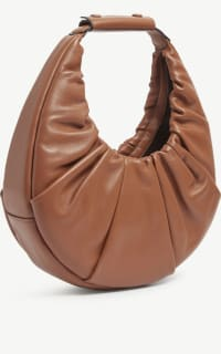 Staud Moon ruched leather shoulder  2 Preview Images