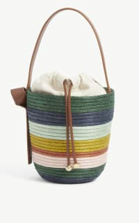Cesta Collective Lunchpail striped raffia bag 2 Preview Images