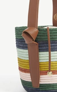 Cesta Collective Lunchpail striped raffia bag 3 Preview Images