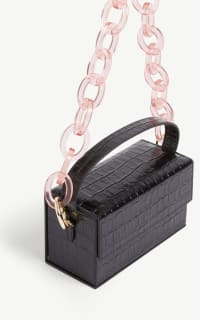 L'AFSHAR Ida croc-embossed small bag 3 Preview Images