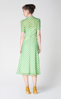 L.K. Bennett Holzer green stripe dress 4 Preview Images