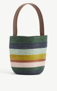 Cesta Collective Lunchpail striped raffia bag 4 Preview Images