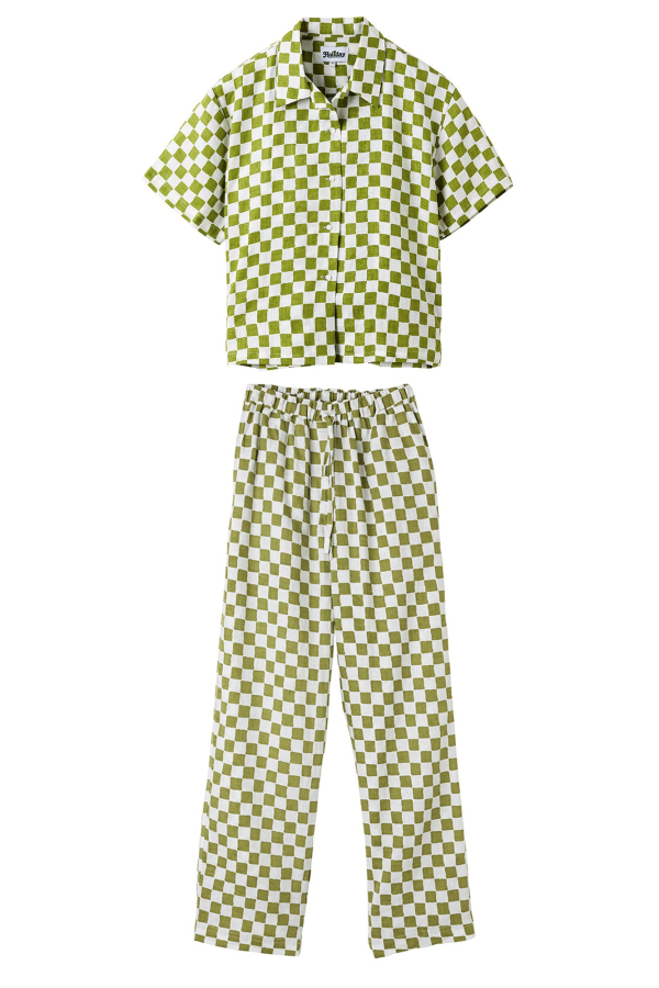Holiday The Label Checkered Pyjama Olive set