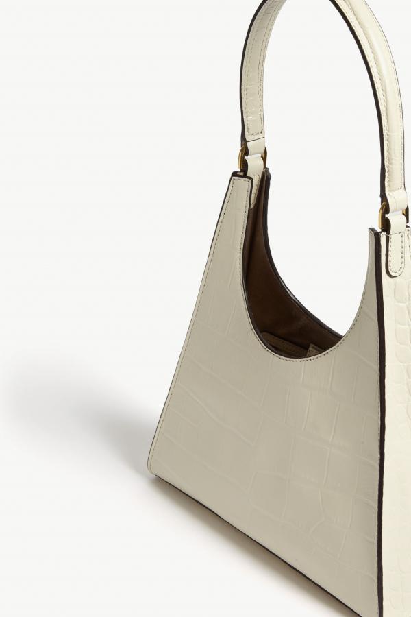 Staud Rey small croc-embossed bag 4