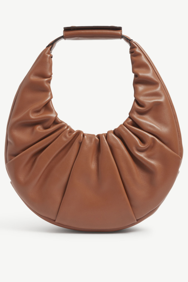 Staud Moon ruched leather shoulder  4