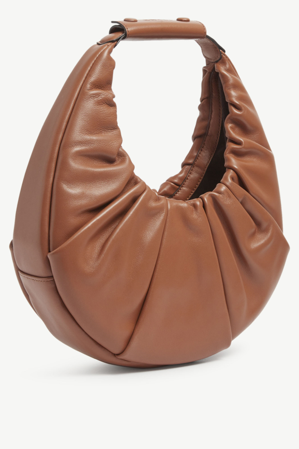 Staud Moon ruched leather shoulder  2
