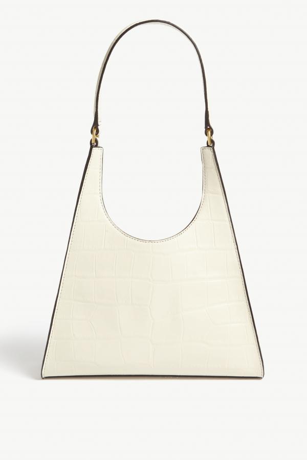 Staud Rey small croc-embossed bag