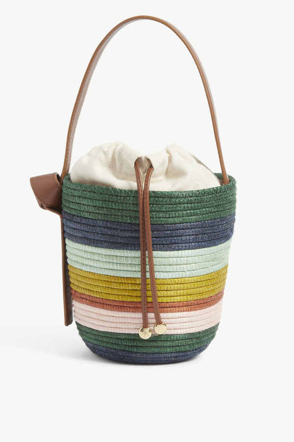 Cesta Collective Lunchpail striped raffia bag 2