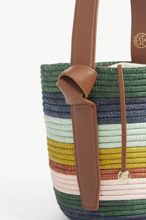 Cesta Collective Lunchpail striped raffia bag 3