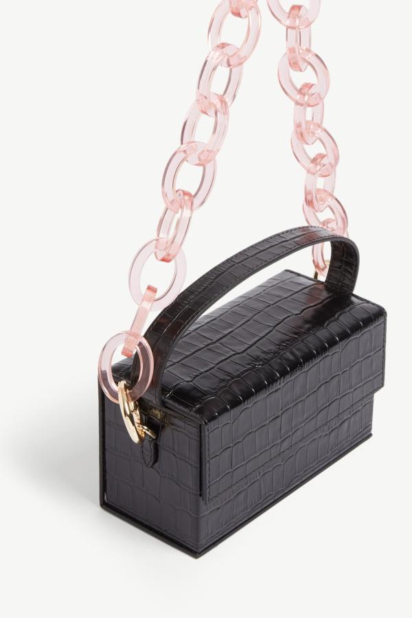 L'AFSHAR Ida croc-embossed small bag 3