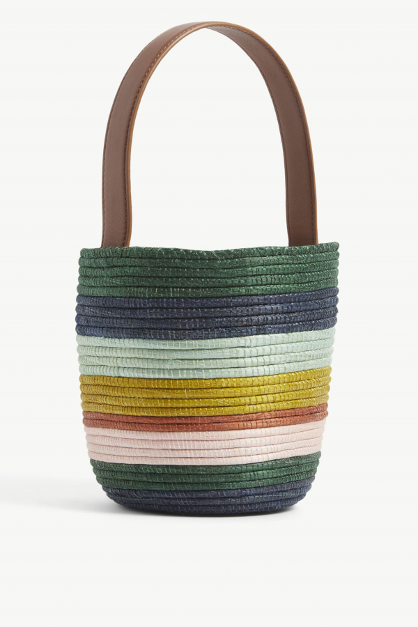 Cesta Collective Lunchpail striped raffia bag 4
